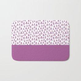 Triangles Purple Bath Mat