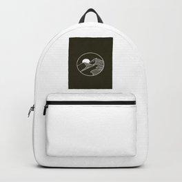 Mountain Sketch Artwork Backpack