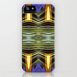Goldenrod pillars pattern iPhone Case
