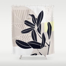 Dorm indoor plant Shower Curtain