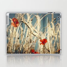 chAos one - red poppies in wheat field Laptop & iPad Skin