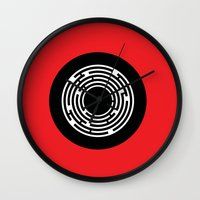 shining Wall Clocks featuring Shining by Aurelie Scour