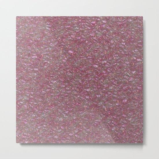 Crystal Pink Metal Print