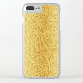 Celtic Warlord gold Clear iPhone Case