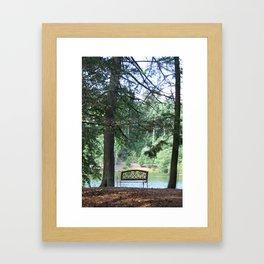 Biltmore Bench Framed Art Print