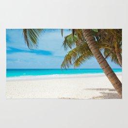 Turquoise Tropical Beach Rug