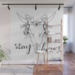 STAY HORNY Wall Mural