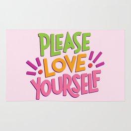 Please Love Yourself Rug