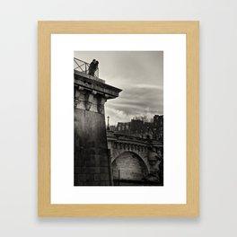 Lovers on the Bridge Framed Art Print