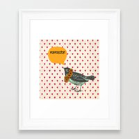 namaste Framed Art Prints featuring Namaste! by Sreetama Ray