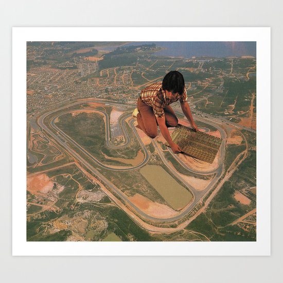 Interlagos Racetrack Art Print