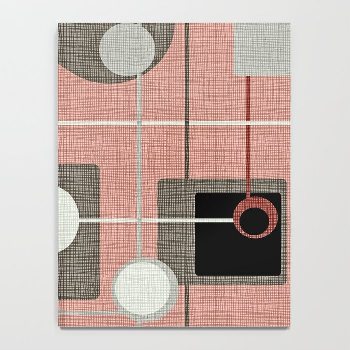 Orbs & Squares Pink Notebook