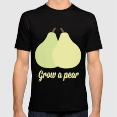 Grow a Pear Black MEDIUM Mens Fitted Tee