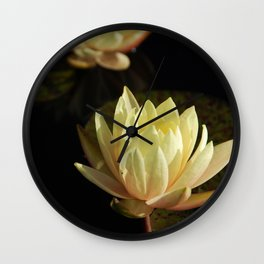 White water lilies 5 Wall Clock