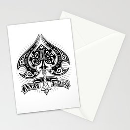Axe of Spades Stationery Cards