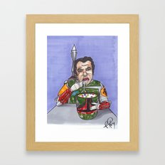 Enjoying breakfast before work Framed Art Print