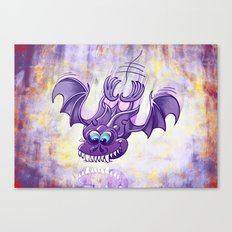 Bat Sinking its Fangs into any Surface Canvas Print