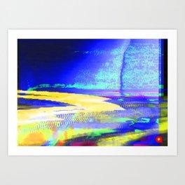 Qpop - Synthwave 2 Art Print