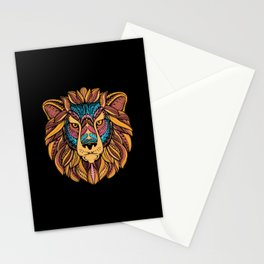 Tribal Lion Head Stationery Cards