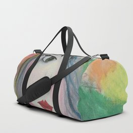 Based on my Original Painting by Jodilynpaintings. Figurative Abstract Pop Art. Duffle Bag