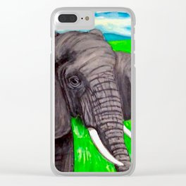 The Majestic Ones, African Elephants Clear iPhone Case