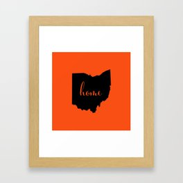 Ohio is Home - Go Bengals Framed Art Print