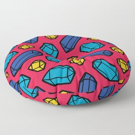 Bright Gems Pattern Floor Pillow