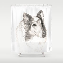 Remembering Maggie :: A Tribute to a Collie Shower Curtain