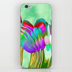 Tulips behind wavy glass iPhone & iPod Skin
