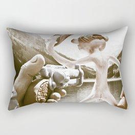 Naked Cowboy (retro color) Rectangular Pillow