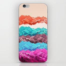 mountain mashup iPhone Skin