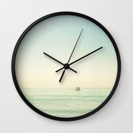 Summer Pontoon Wall Clock