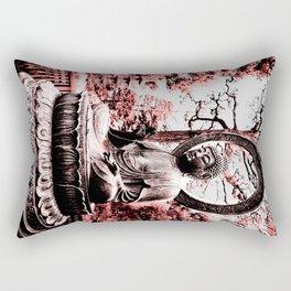 Scarlet Buddha in San Francisco, The Japanese Tea Garden, by Karen Images Rectangular Pillow