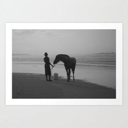 The Horse on the Beach Art Print
