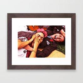Frida y Chavela Framed Art Print