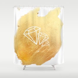 Faceted Gold Shower Curtain