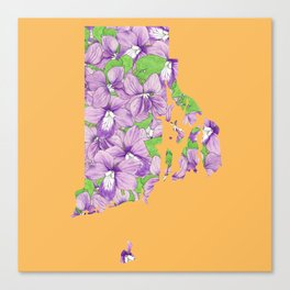 Rhode Island in Flowers Canvas Print