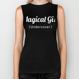 Magical Girl, Undercover - Otaku Weeaboo Anime Design Biker Tank