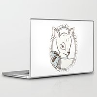 bambi Laptop & iPad Skins featuring BAMBI by TOO MANY GRAPHIX