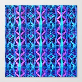 Blue/Purple Metallic Pattern Canvas Print