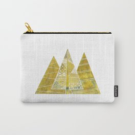Gold christmas tree Carry-All Pouch