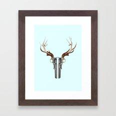 GUN SKULL Framed Art Print