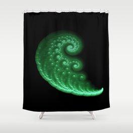 3D Fractal Spiral Wave Shower Curtain