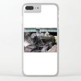 Vintage Steam Engine Clear iPhone Case