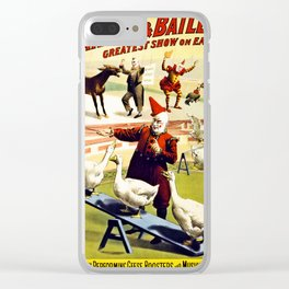 Barnum and Bailey Circus Geese and musical donkey Clear iPhone Case