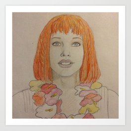 Leeloo Dallas Multi-Pass Art Print