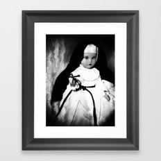 Storybook Nun  Framed Art Print