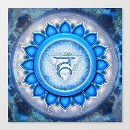 Vishuddha Chakra - Throat Chakra - Series V Canvas Print