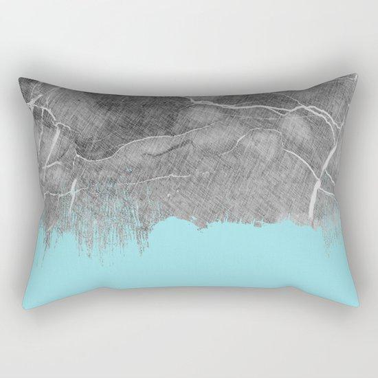 Crayon Marble and Sea Rectangular Pillow