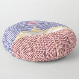Knitted Piramid Floor Pillow